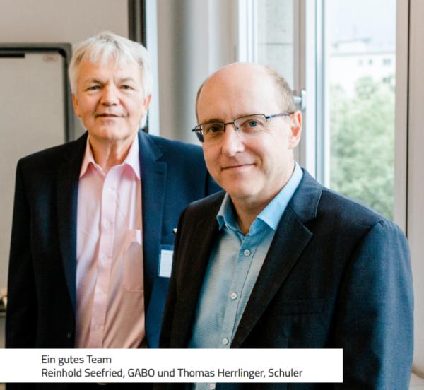 Schuler - Renhold Seefried (GABO) und Thomas Herrlinger (Schuler